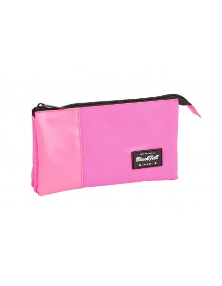 Blackfit8 Pink Estuche portatodo triple escolar
