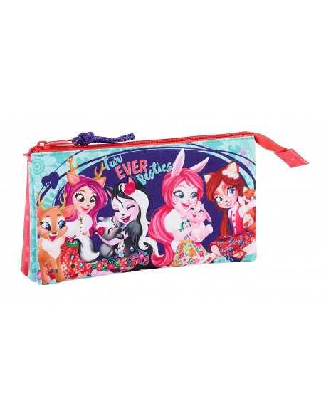 Enchantimals Estuche portatodo triple escolar