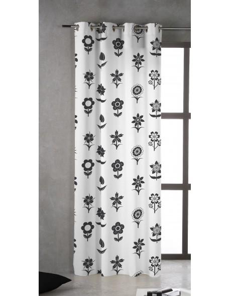 Tsuki Cortina japonesa con ojales Shisuka 100% algodón