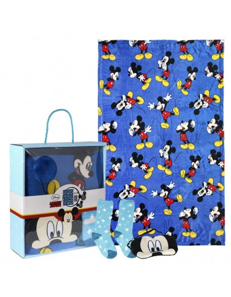 Mickey Mouse Set caja regalo: manta, calcetines y antifaz