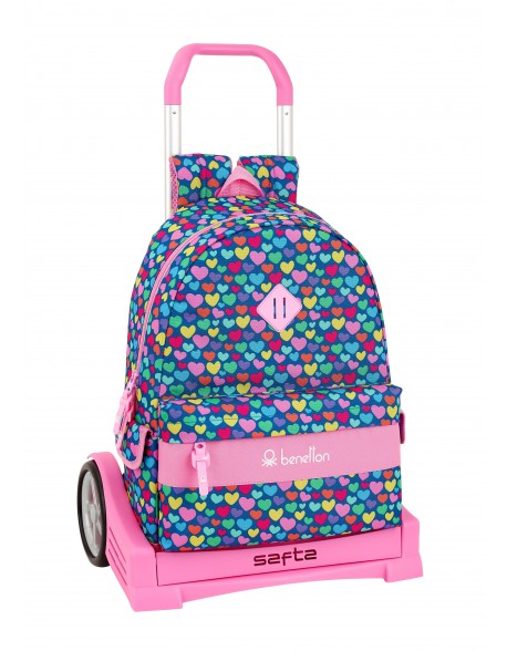 UCB Benetton Cuori Mochila con carro ruedas Evolution, Trolley