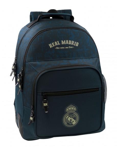 Real Madrid CF Mochila doble escolar con cantoneras