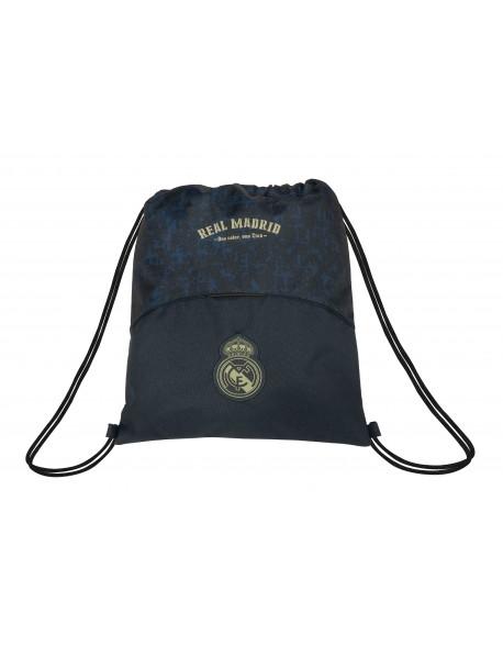 Real Madrid CF Saco mochila plano cuerdas 35 x 40 cm