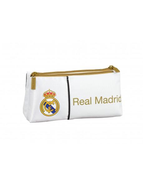 Real Madrid CF Neceser bolsa de aseo pequeña con 2 cremalleras