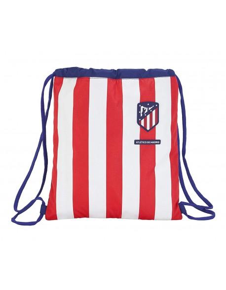 Atlético de Madrid Saco mochila plano cuerdas 35 x 40 cm