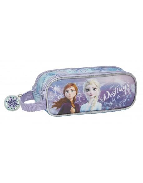 Frozen II Estuche portatodo doble 2 cremalleras escolar