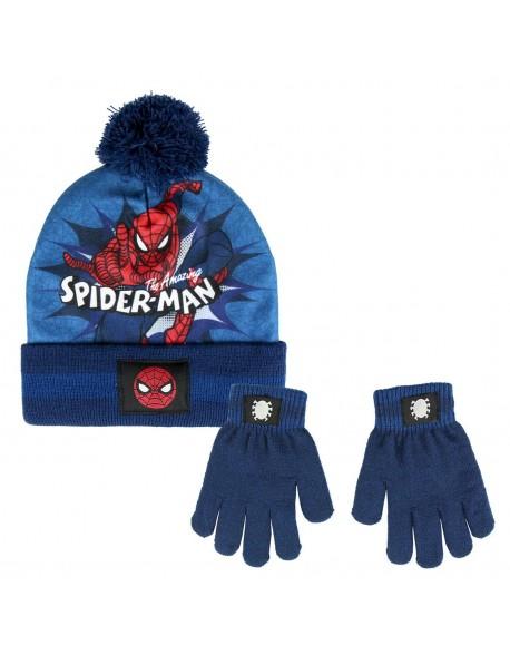 Spiderman Conjunto 2 piezas: gorro+ guantes Niño