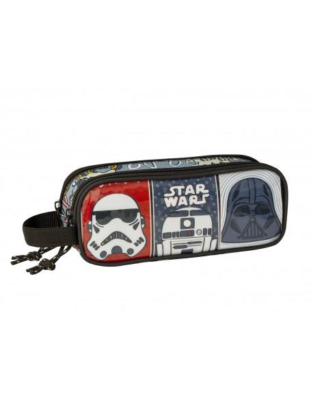 Star Wars Estuche portatodo doble 2 cremalleras escolar