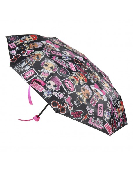 LOL Paraguas plegable, negro