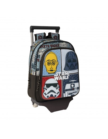 Star Wars Mochila pequeña ruedas, carro, trolley