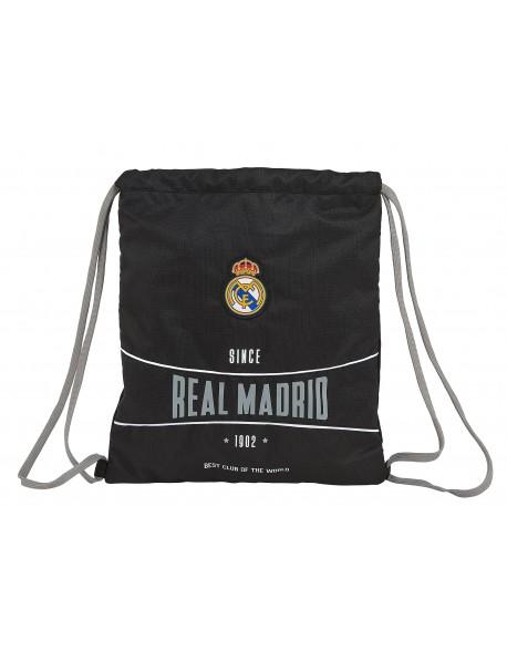 Real Madrid CF 1902 Saco mochila plano cuerdas 35 x 40 cm
