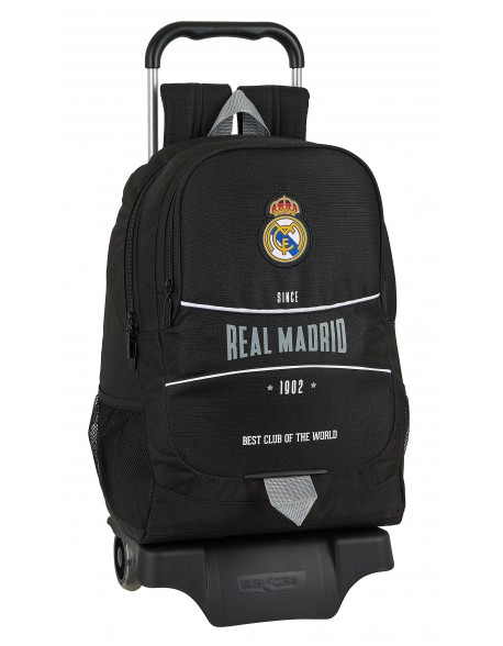 Real Madrid CF 1902 Mochila grande ruedas, carro, trolley