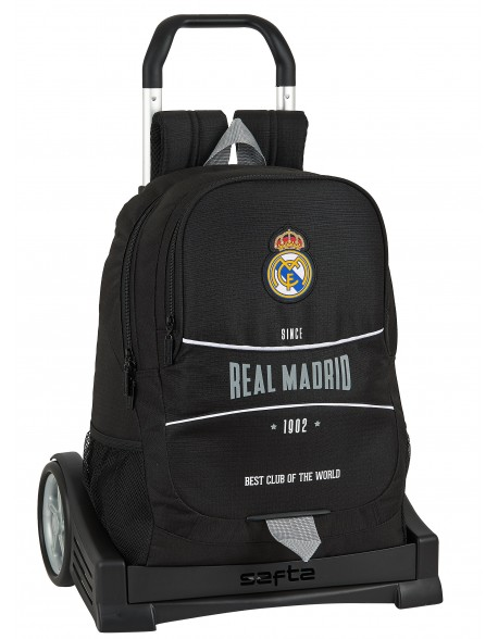 Real Madrid CF 1902 Mochila con carro ruedas Evolution, Trolley