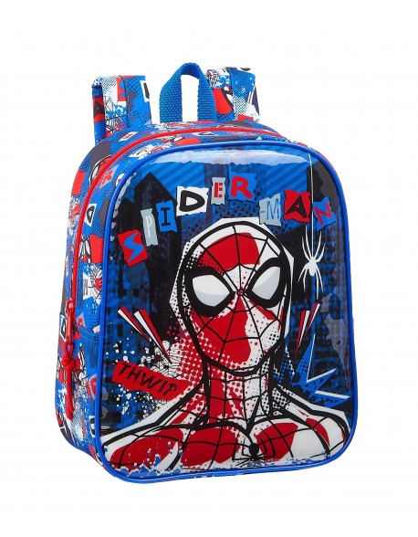 Spiderman Mochila guardería niña adaptable carro