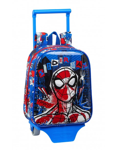 Spiderman Mochila guardería ruedas, carro, trolley