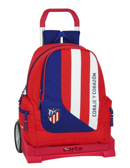 Atlético de Madrid Mochila con carro ruedas Evolution, Trolley
