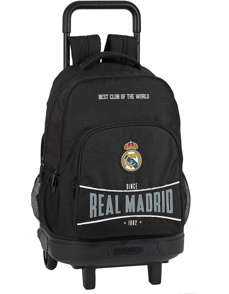 Real Madrid CF 1902 Mochila grande con ruedas carro, Trolley