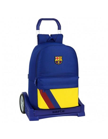 FC Barcelona 19/20 Mochila con carro ruedas Evolution, Trolley
