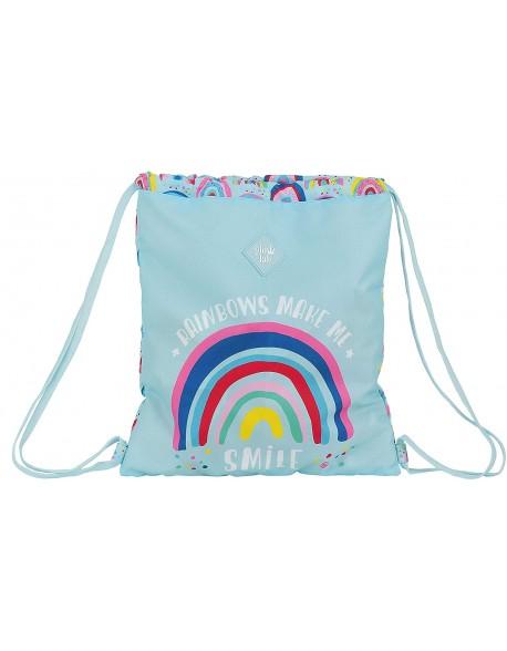 Glowlab Rainbow Saco mochila plano cuerdas 35 x 40 cm