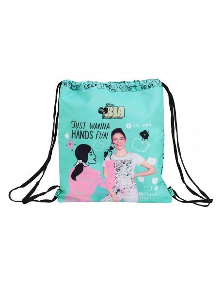 Bia Saco mochila plano cuerdas 35 x 40 cm