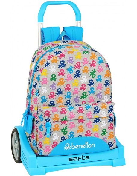 UCB Benetton Logo Mochila con carro ruedas Evolution, Trolley