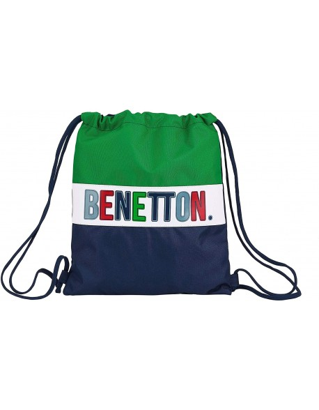 UCB Benetton 1965 Saco mochila plano cuerdas 35 x 40 cm