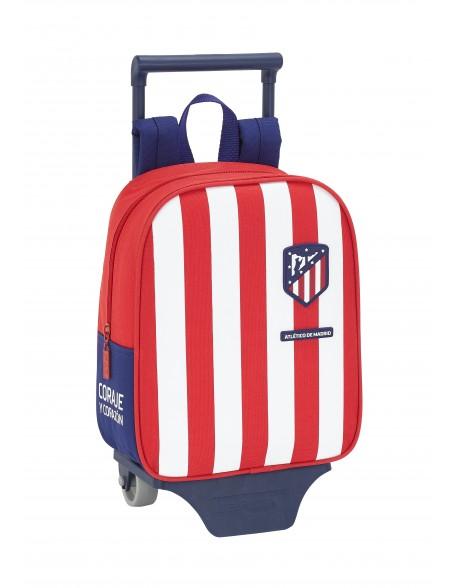 Atlético de Madrid Mochila guardería ruedas, carro, trolley