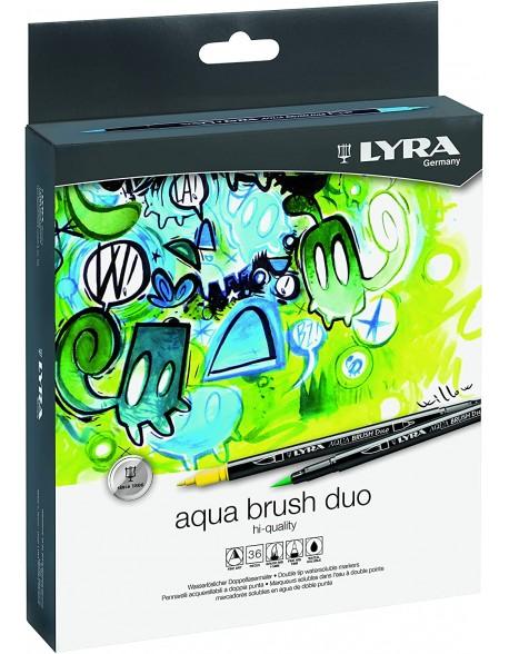 Lyra Aqua Brush DUO 36 Rotuladores de Colores