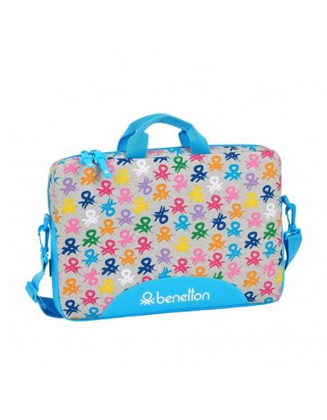 """UCB Benetton Logo Funda para portátil o tablet 15,6"""" con asa bandolera"""
