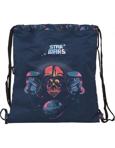 Star Wars Death Star Saco mochila plano cuerdas 35 x 40 cm