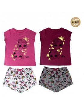 Lol Pijama verano, brilla en la oscuridad niña