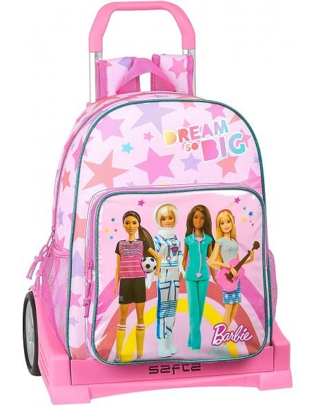 Barbie Dreamer Mochila con carro ruedas Evolution, Trolley