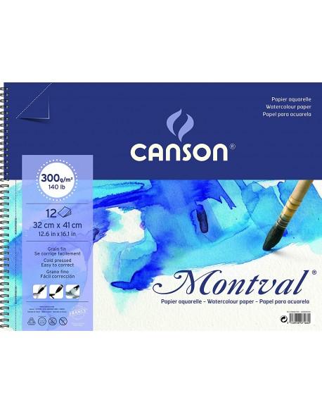 Canson Montval Grano Fino, Bloc 12 Hojas,  300g