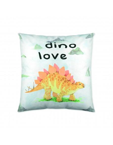Naturals Cojín reversible Dinosaure 100% algodón