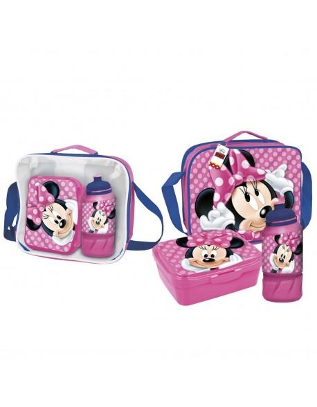 Minnie Mouse Bolso Portameriendas térmico con accesorios
