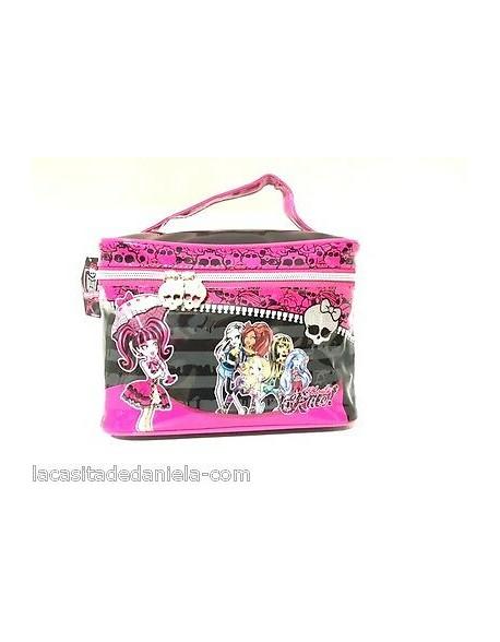 Monster High Neceser bolsa aseo con asa para niña