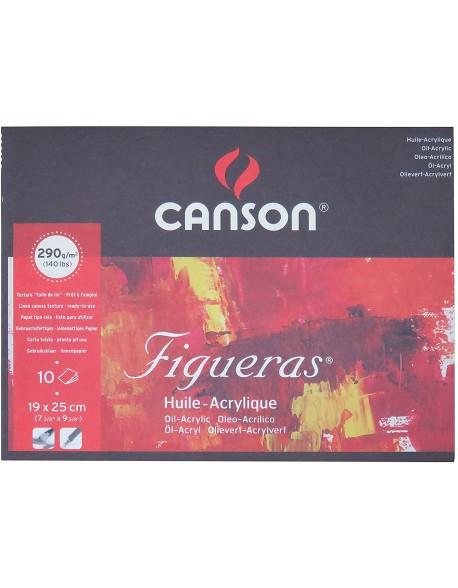 Canson Figueras Grano lienzo de lino Bloc, 10 Hojas,  290g