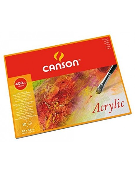 Canson Acrylic Grano fino Bloc, 10 Hojas,  400g