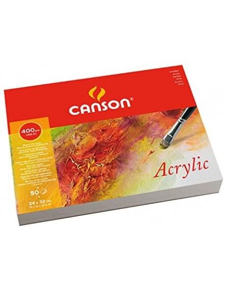 Canson Acrylic Grano fino Bloc, 50 Hojas,  400g