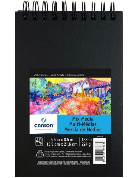 Canson Mix Media Art Book,  Cuaderno 40 Hojas,  224 gr