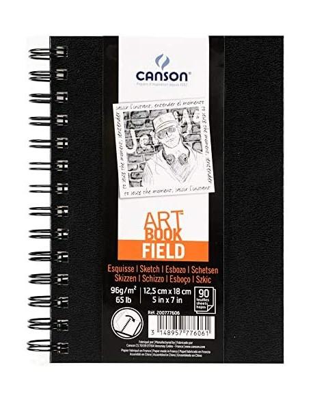 Canson Field Art Book,  Cuaderno espiral 90 Hojas, 96 gr