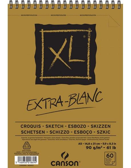 Canson XL Extra-Blanc, Album espiral,  90g