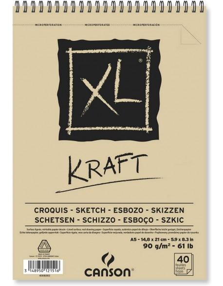 Canson XL Kraft, Album espiral,  90g