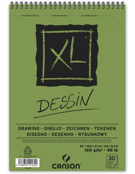 Canson XL Dessin, Album espiral,  160 g