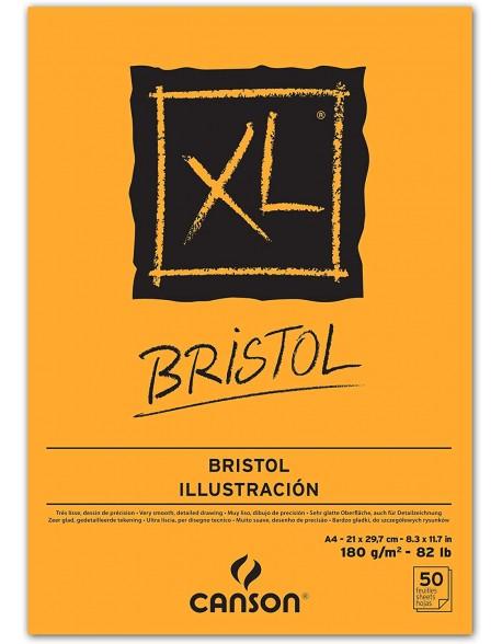 Canson XL Bristol, Bloc encolado, 50 Hojas,  180g