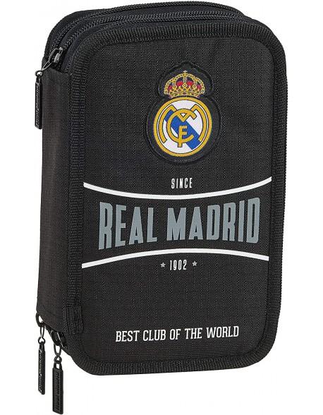 Real Madrid CF 1902 Plumier triple estuche con 41 piezas