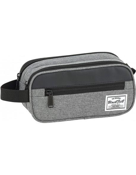 Blackfit8 Black & Grey Bolsa de accesorios, Neceser