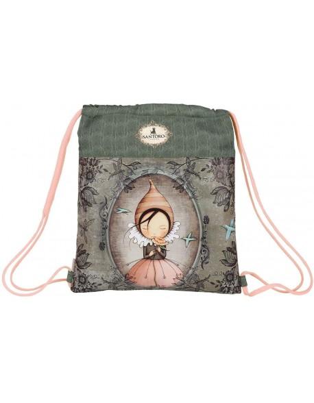 Mirabelle Santoro Saco mochila plano cuerdas 35 x 40 cm