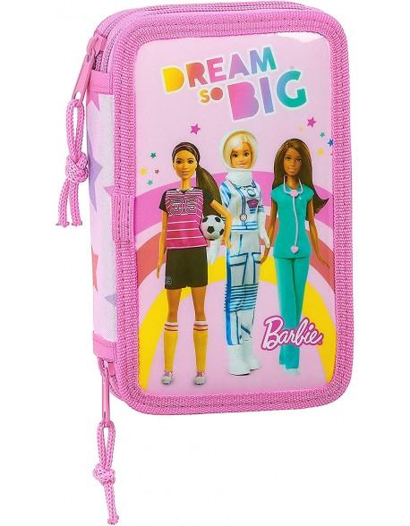 Barbie Dreamer Plumier doble, estuche con 28 piezas, niña