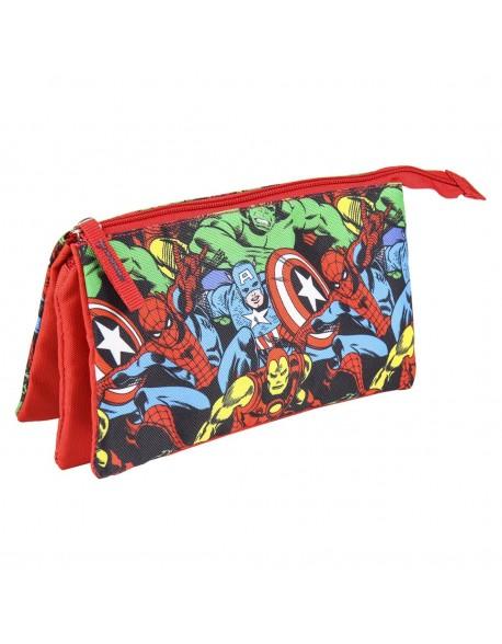 Avengers Estuche portatodo triple escolar